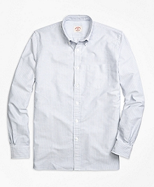 Supima® Cotton Banker Stripe Sport Shirt