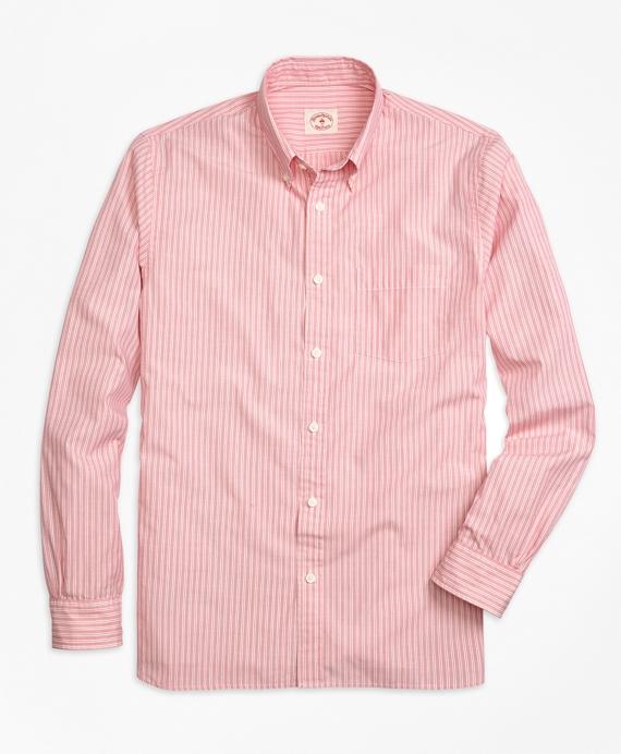 Men 39 s striped broadcloth sport shirt brooks brothers for Brooks brothers sports shirts