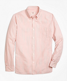 Seersucker Stripe Sport Shirt