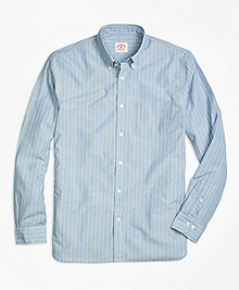 Blue Stripe Sport Shirt