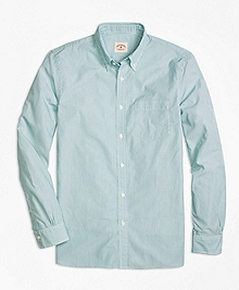 Green Stripe Sport Shirt