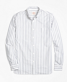 Supima® Cotton Grey Stripe Sport Shirt