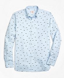 Fish Print Sport Shirt