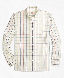 Multi Windowpane Sport Shirt