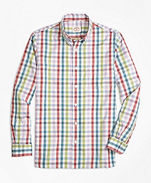 Multi Gingham Sport Shirt