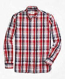 Plaid Seersucker Sport Shirt