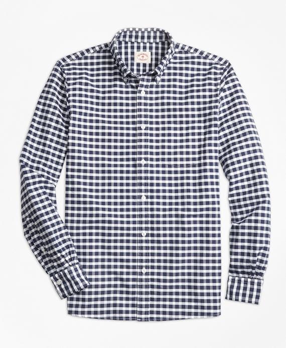 Gingham Sport Shirt Navy