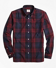 Tartan Broadcloth Sport Shirt