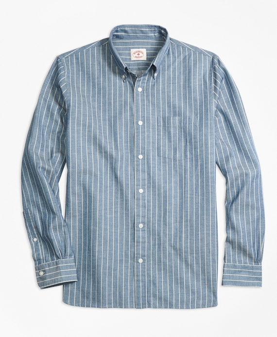 Striped Chambray Sport Shirt