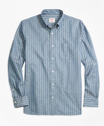 Striped Chambray Sport Shirt