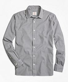 Houndstooth Twill Sport Shirt