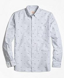Stripe NY Print Oxford Sport Shirt