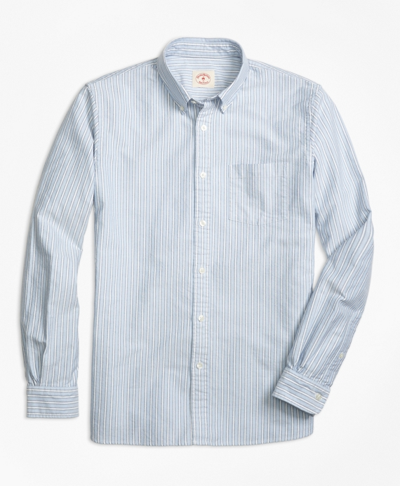 Multi-Stripe Oxford Sport Shirt