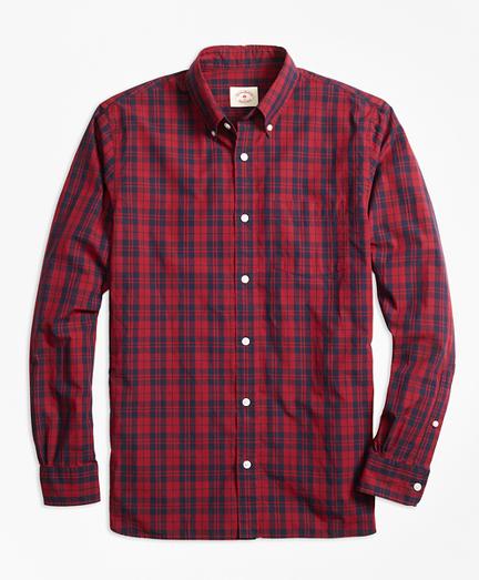 Checkered Broadcloth Sport Shirt