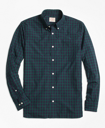 Black Watch Tartan Broadcloth Sport Shirt
