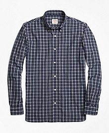 Checkered Broadcloth Sport Shirt