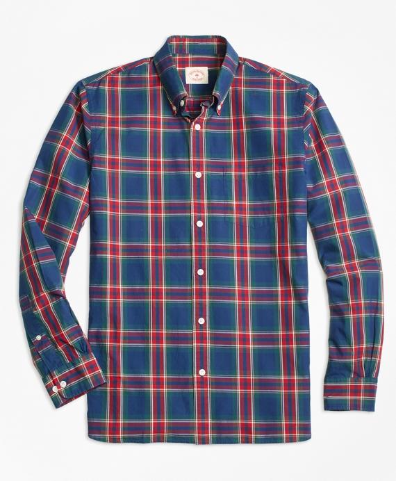 Checkered Tartan Broadcloth Sport Shirt