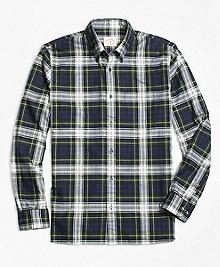 Blue Tartan Flannel Sport Shirt