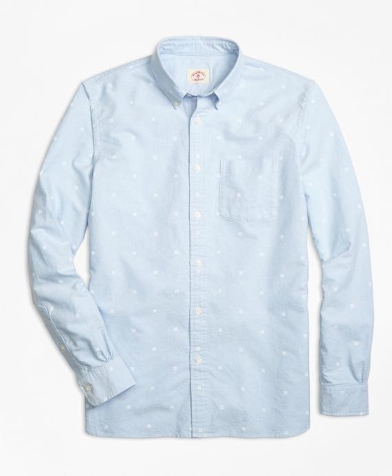 Snowflake-Print Oxford Sport Shirt