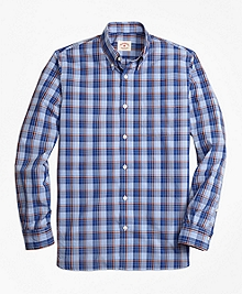 Plaid Broadcloth Sport Shirt