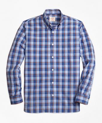 Plaid Broadcloth Sport Shirt
