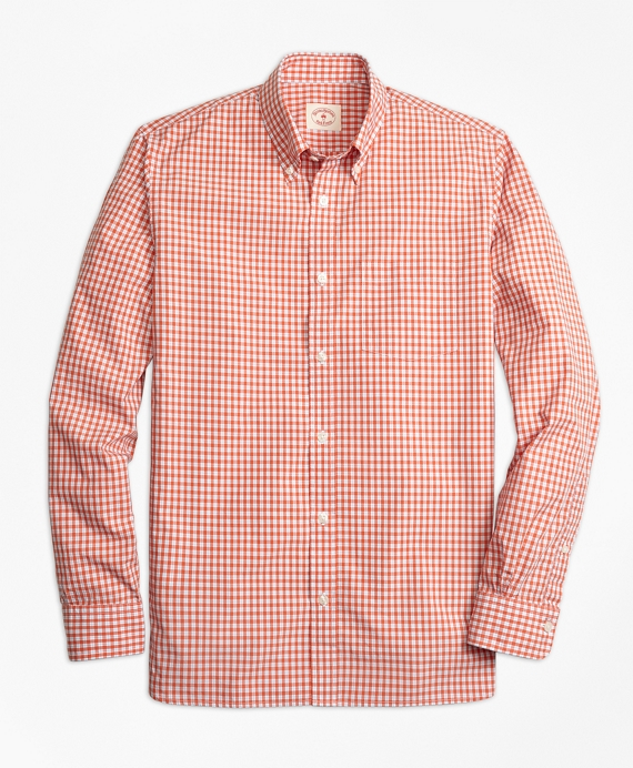 Mini-Check Broadcloth Sport Shirt