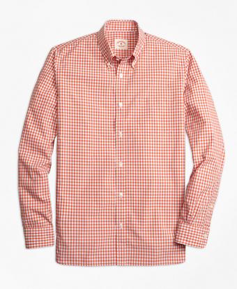 Mini-Check Broadcloth Sport Shirt