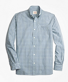 Mini Checkered Broadcloth Sport Shirt