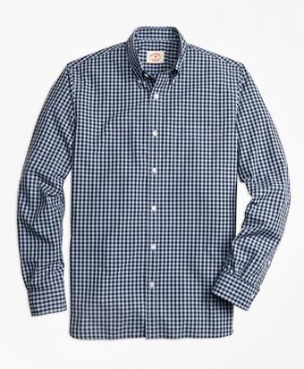 Gingham Broadcloth Sport Shirt