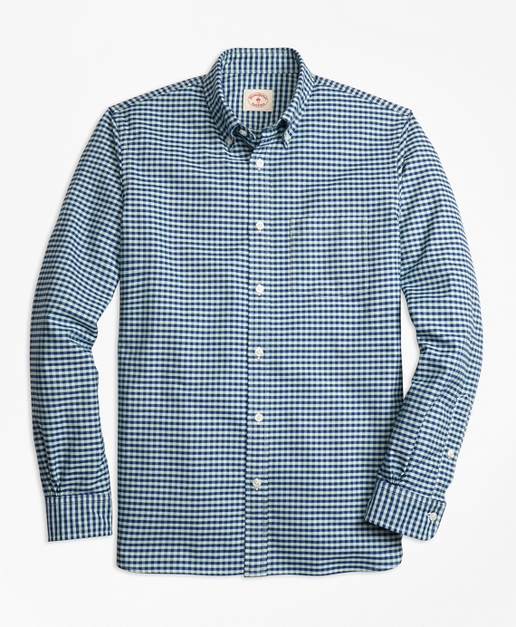Checkered Oxford Sport Shirt Blue-Green
