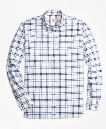 Plaid Oxford Sport Shirt