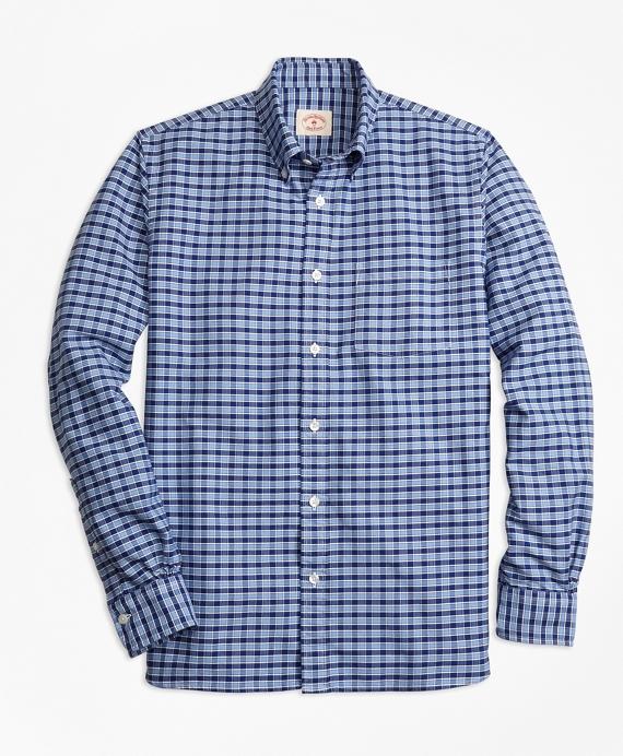Checkered Oxford Sport Shirt Blue