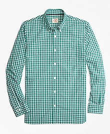 Gingham Broadcloth Sport Shirt