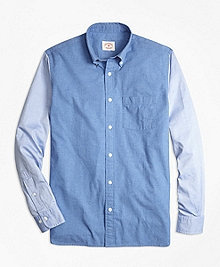 Chambray Color-Block Sport Shirt