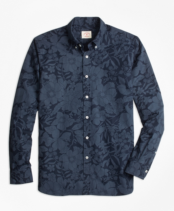 Floral Cotton Poplin Sport Shirt