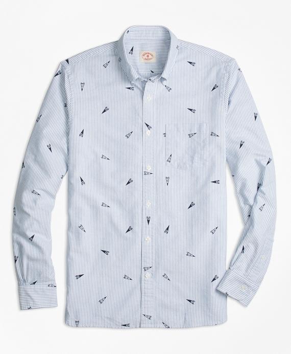 """1818"" Pennant Stripe Oxford Sport Shirt"