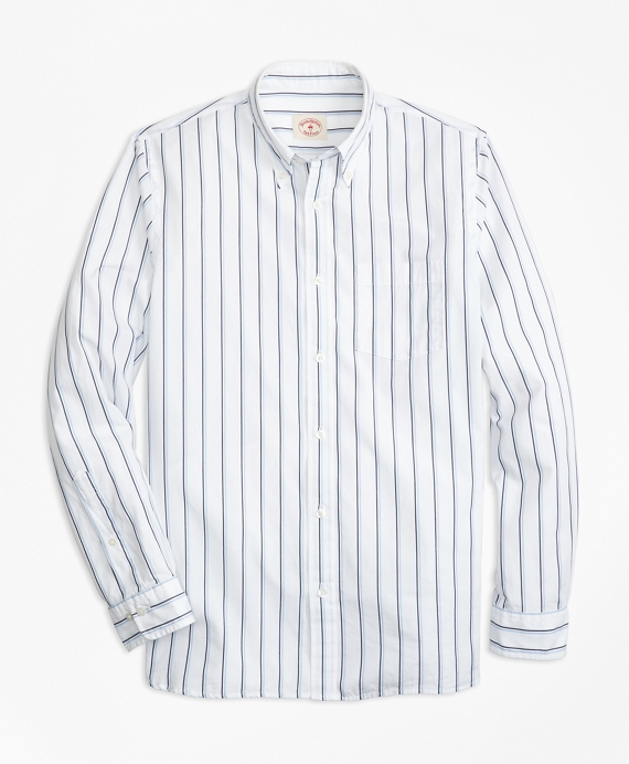 Double-Stripe Broadcloth Sport Shirt Navy