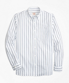 Double-Stripe Broadcloth Sport Shirt