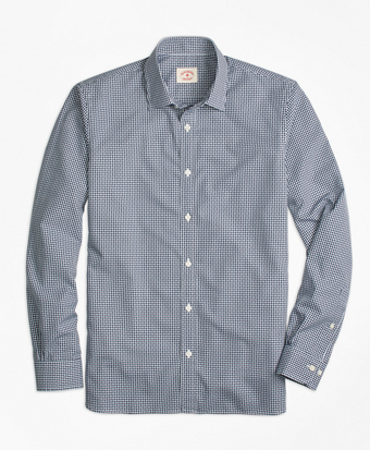 Nine-to-Nine Dobby Gingham Shirt