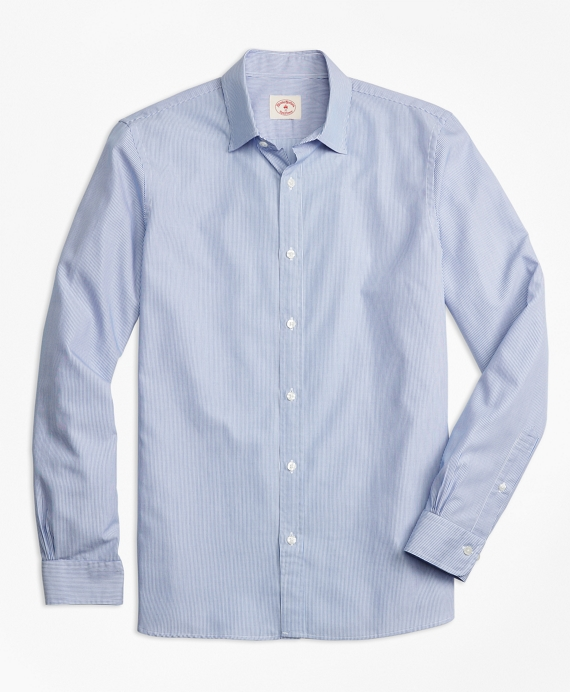 Nine to Nine Cotton Poplin Stripe Sport Shirt