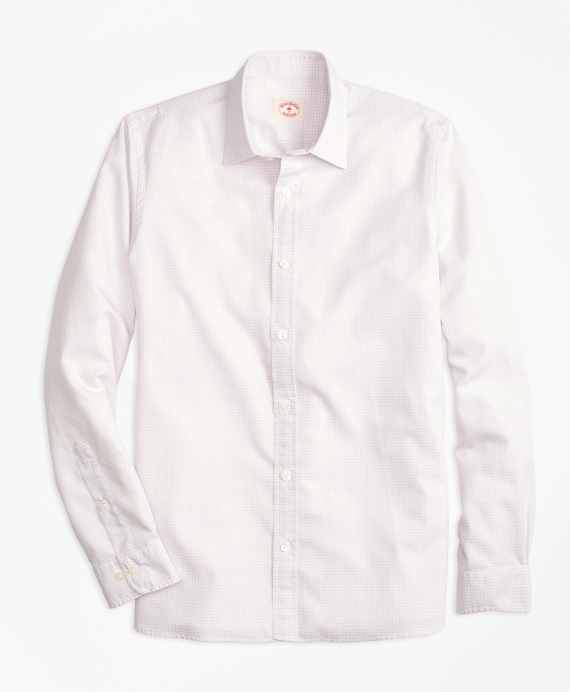 Nine to Nine Cotton Poplin Check Sport Shirt