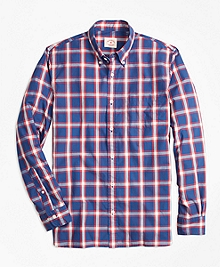 Checkered Broadcloth Oxford Sport Shirt