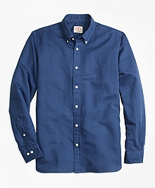 Garment-Dyed Linen-Cotton Sport Shirt