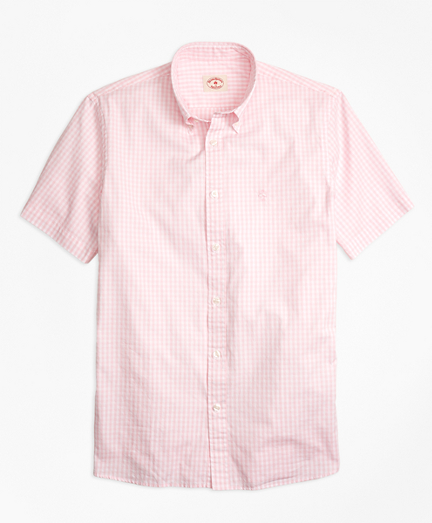 Gingham Batiste Oxford Short-Sleeve Sport Shirt