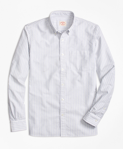 Striped Oxford Cotton Sport Shirt