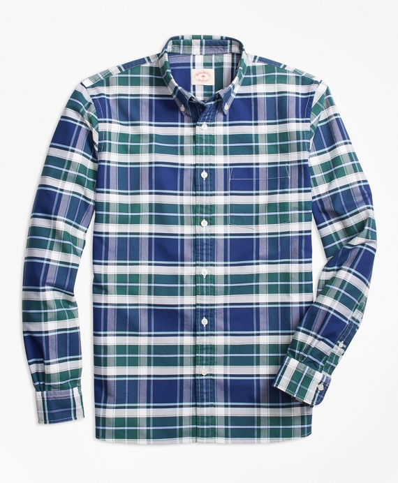Plaid Oxford Cotton Sport Shirt