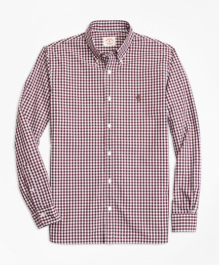 Gingham Cotton Broadcloth Sport Shirt