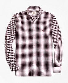 Gingham Cotton Broadcloth Sport Shirt