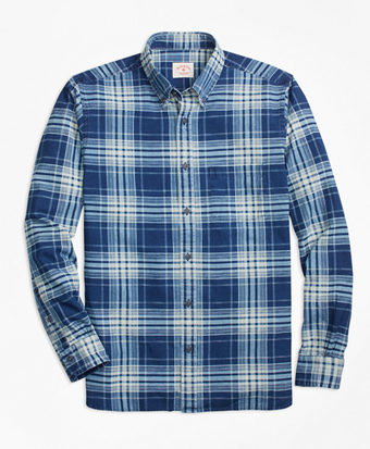 Indigo Plaid Sport Shirt