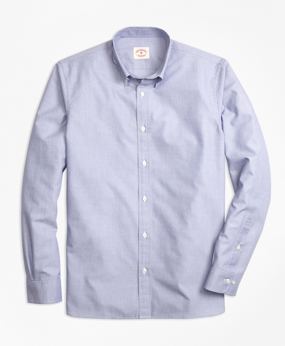 Nine-to-Nine Cotton Poplin Shirt Blue